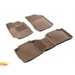 Трехслойные коврики Sotra 3D Premium 12mm Beige для Toyota Venza 2013->