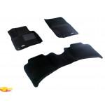 Трехслойные коврики Sotra 3D Premium 12mm Black для Volkswagen Touareg (mkII) 2011->