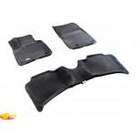 Трехслойные коврики Sotra 3D Premium 12mm Grey для Volkswagen Touareg (mkII) 2011->