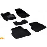Трехслойные коврики Sotra 3D Premium 12mm Black для Volkswagen Passat (B7) 2011->