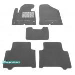 Двухслойные коврики для Hyundai Santa Fe (1-2 ряд)(DM/NC)(mkIII) 2013→ Sotra Premium 10mm Grey