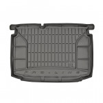 Резиновый коврик в багажник для Volkswagen Polo (хетчбек)(mkV) 2009-2017 (нижняя полка)(багажник) Frogum