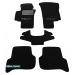 Двухслойные коврики Seat Toledo / Leon 2004-2009 - Classic 7mm Black Sotra