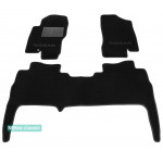 Двухслойные коврики Sotra Classic 7mm Black для Nissan Navara (D40)(mkIII) 2005-2010