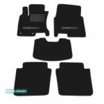Двухслойные коврики Sotra Classic 7mm Black для Nissan Qashqai+2 (1-2 ряд) 2008-2013