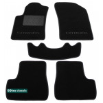 Двухслойные коврики Citroen C3 (mkII) 2009-2016; DS3 (mkI) 2012> - Classic 7mm Black Sotra