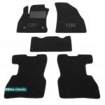Двухслойные коврики Fiat Doblo (1-2 ряд)(mkII) 2010> - Classic 7mm Black Sotra