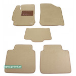 Двухслойные коврики Sotra Premium 10mm Beige для Toyota Camry (XV50)(mkVII) 2011-2014