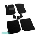Двухслойные коврики Seat Leon (1M)(mkI) 1998-2005; Toledo (mkII) 1998-2005 - Classic 7mm Black Sotra