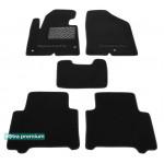 Двухслойные коврики Hyundai Santa Fe (1-2 ряд)(DM/NC)(mkIII) 2013→ - Premium 10mm Black Sotra