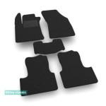 Двухслойные коврики Renault Megane (седан и универсал)(mkIV) 2016→ - Classic 7mm Black Sotra