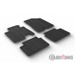 Резиновые коврики Gledring для Hyundai i30 (mkII) / Kia Ceed (mkII) 2015-2018
