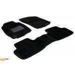 Трехслойные коврики Sotra 3D Premium 12mm Black для Mitsubishi Outlander (mkII-mkIII) 2006->