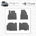 Коврики в салон Renault Kangoo 08- ( design 2016) (4 шт) резиновые Stingray