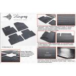 Коврики в салон Hyundai Santa Fe 2013- резиновые - Stingray
