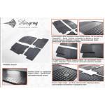 Резиновые коврики Daewoo Lanos 1997- резиновые - Stingray