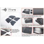 Резиновые коврики Fiat Doblo Cargo 2010- резиновые - Stingray