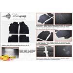 Резиновые коврики Chevrolet Spark 2004- резиновые - Stingray