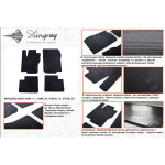Коврики в салон Mercedes Benz ML-W166 2011- резиновые - Stingray