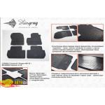 Коврики в салон Mitsubishi Outlander 2013- резиновые - Stingray