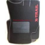 Коврики текстильные NISSAN X-TRAIL с 2001-2007 черные в салон