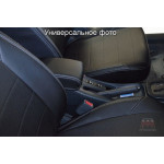 Чехлы на сиденья VW Tiguan с 2017 (со столиками)- серия AM-X (параллельная ДВОЙНАЯ строчка)- эко кожа - Автомания