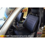 Чехлы на сиденья Toyota Corolla с 2013- серые с серой вставкой серия AM-L (без декоративной строчки)- эко кожа - Автомания