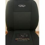 Чехлы сиденья CHERY M11 седан (A3) с 2008 го фирмы Элегант - модель Classic