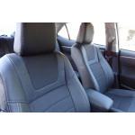 Авточехлы для Skoda Octavia A7 (elegance) 2013- кожзам - DYNAMIC Style MW Brothers
