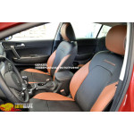 Чехлы для Toyota Corolla (E170) 2013- (шт.)- полностью кожзаменитель - Союз Авто