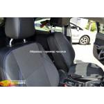 Чехлы для Mitsubishi L-200 IV (с подлокот.) 2006-> (шт.)- автоткань+экокожа - Союз Авто