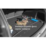 Резиновый коврик в багажникFrogum для Toyota Yaris (5 дв.)(mkII) 2005-2011 (без доп. грузовой полки)(багажник)
