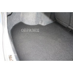 Коврик в багажник для Kia Carens с 2006-2013 - черный текстильный
