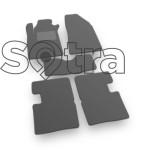 Двухслойные коврики Sotra Premium 10mm Grey для Renault Trafic (mkII)(с печкой на 2 ряду)(2-3 ряд) 2001-2014