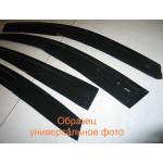 Kia Cerato K3 2012+ ветровики дефлекторы окон ASP с молдингом нержавеющей стали / sunvisors