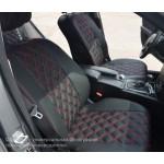 Чехлы на сиденья VW  T-4 1+2 - серия R Line - эко кожа + (эко кожа / алькантара) - Автомания
