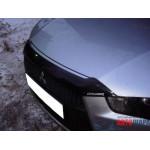 Дефлектор капота Mitsubishi Outlander XL 2010-2012 - темный короткий фирмы EGR