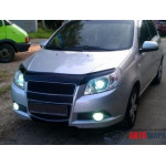 Дефлектор капота Chevrolet Aveo с 2008-2011 г.в.( х/б) - VipTuning