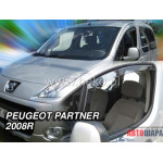 Ветровики на PEUGEOT PARTNER 2008R. два передних - HEKO