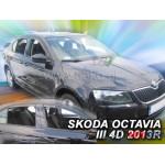 Ветровики на Skoda OCTAVIA III 5D 2013R->(+OT) LTB - HEKO