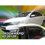 Ветровики на Skoda Rapit 5d 2012(+OT) - HEKO