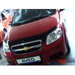 Дефлктор капота Chevrolet AVEO 03-11/ЗАЗ Вида, седан , 11-, темный - SIM