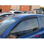 Ветровики для Toyota Yaris/Vits I 3d 1998-2005/Echo 3d 1999-2005 накл.деф.окон Cobra-Tuning