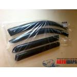 Ветровики для Toyota Yaris/Vits II 3d 2005-2011 накл.деф.окон Cobra-Tuning