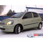 Ветровики для Toyota Yaris/Vits I 5d 1998-2005 накл.деф.окон Cobra-Tuning