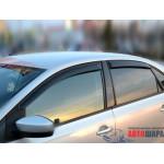 Ветровики для VW Polo V седан 2010 накл.деф.окон Cobra-Tuning
