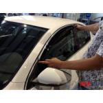 Дефлекторы окон VW Passat B6/2005-2014 4дв седан Хром молдинг - HIC