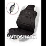 Накидка на сидение с подогревом H 19002 BK 115x49см высокая с переключателем (H 19002 BK)