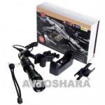 Фонарик диодный Police BL-Q8455 - 12 000W, XPE /аккум./зарядное 220V/под ружье/велокрепление
