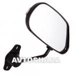 Зеркало боковое ЗБ F2 П BLACK, Led метал, черное, с поворотом, 2шт. в комплекте